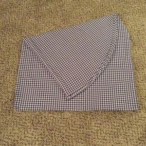 Oval Cotton Check Tablecloth